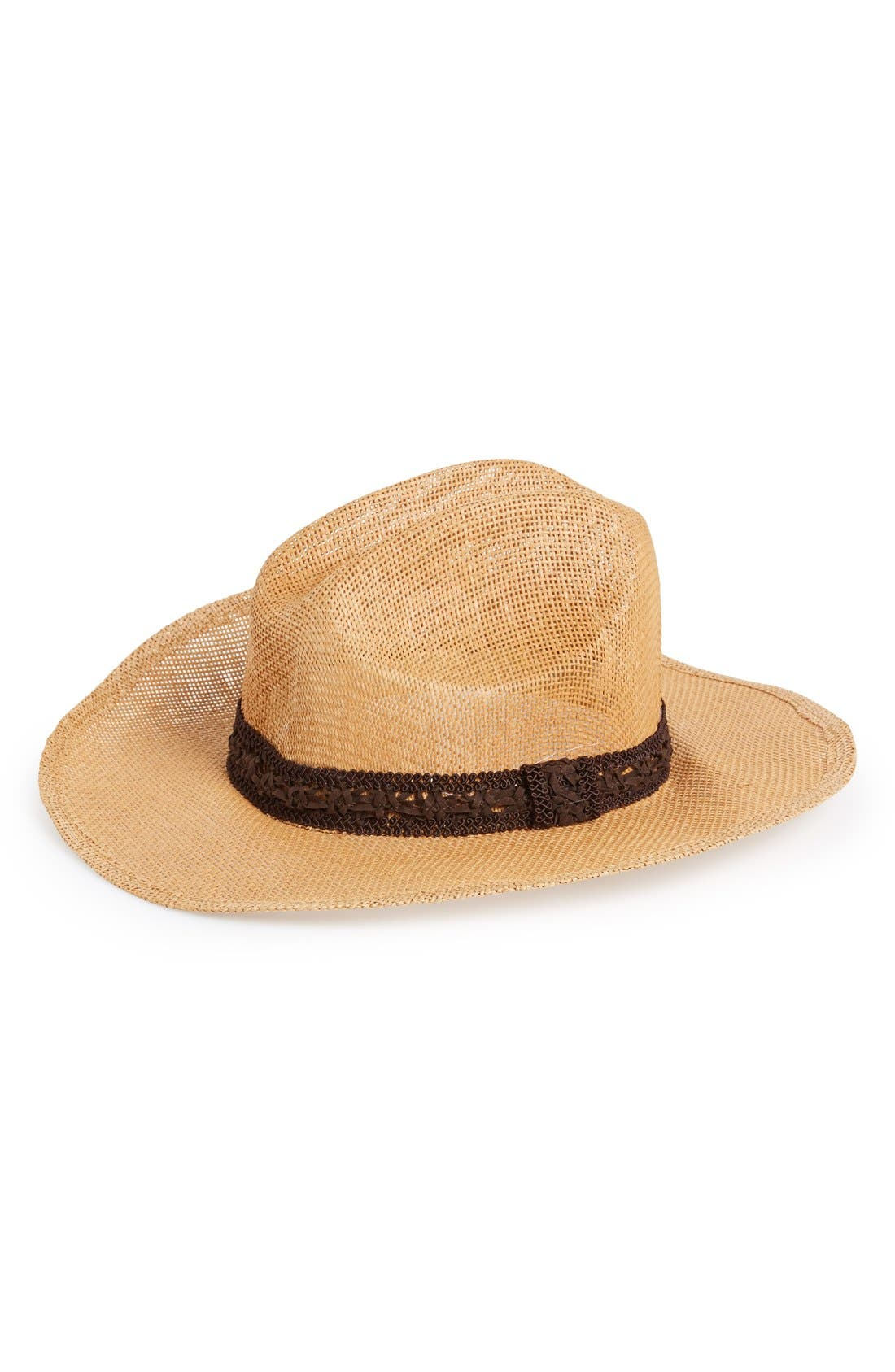 Alternate Image 1 Selected - Amici Accessories Straw Cowboy Hat (Juniors)