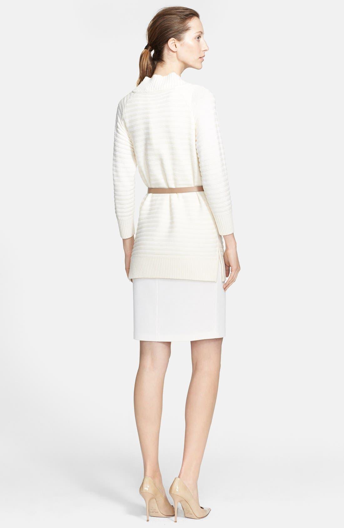 Alternate Image 2  - St. John Collection Raised Stripe Knit Cardigan