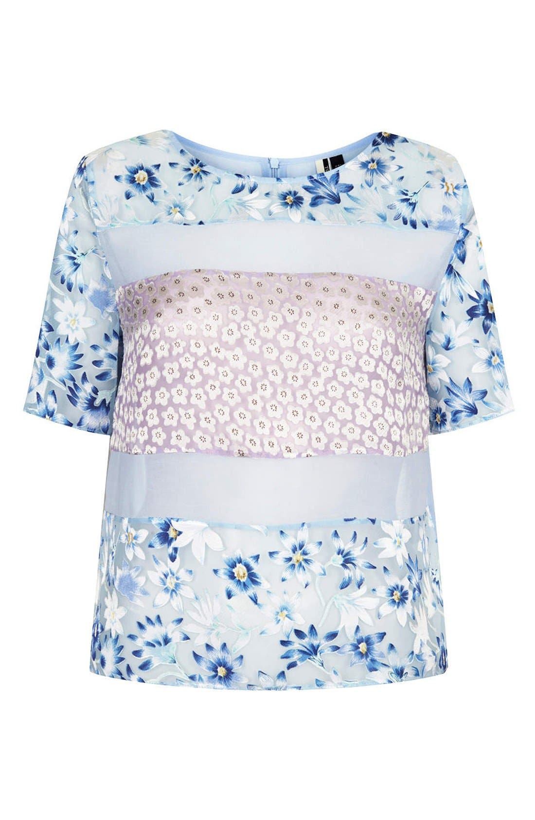 Alternate Image 3  - Topshop Mixed Floral Woven Top