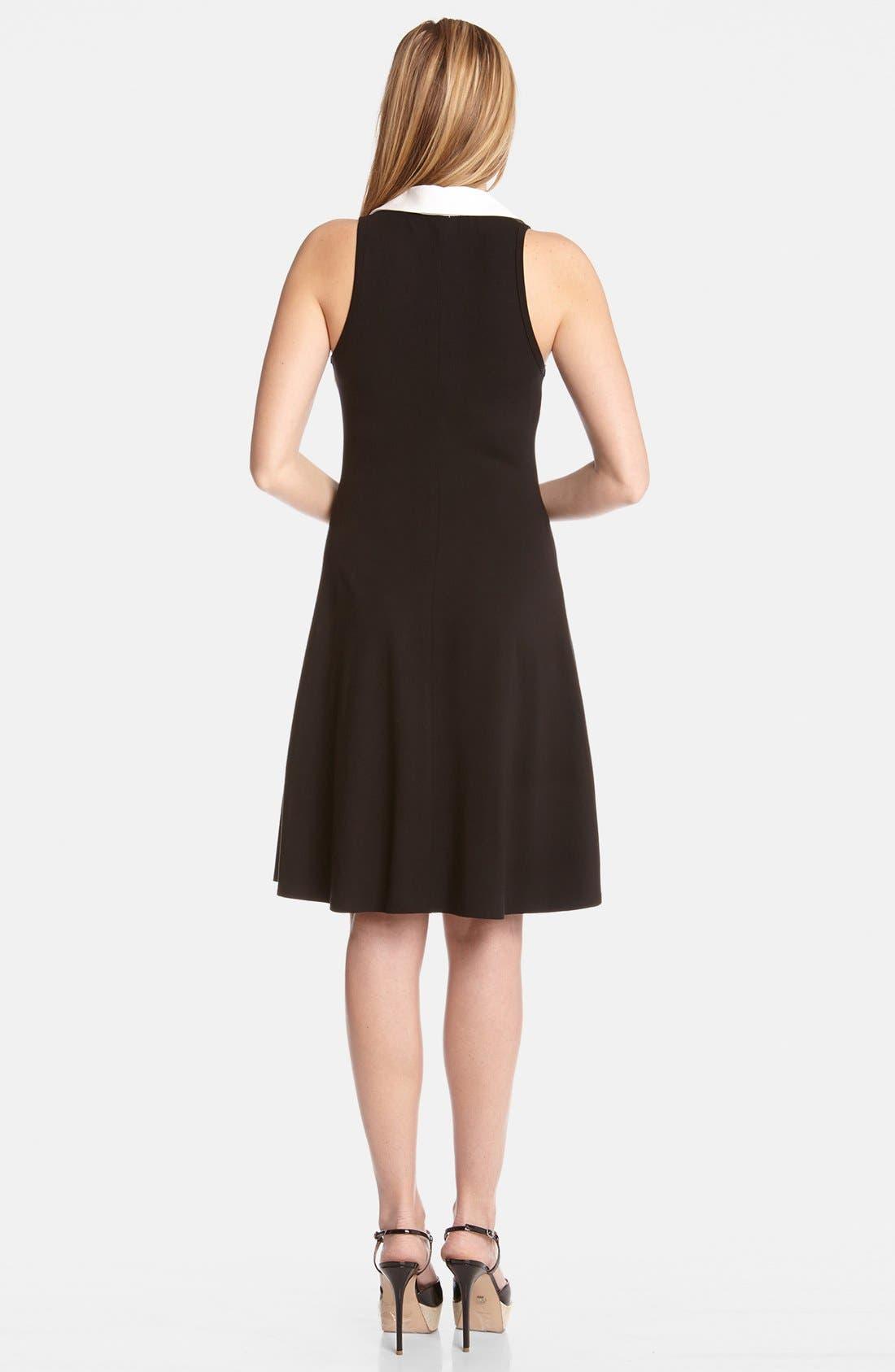 Alternate Image 2  - Karen Kane Contrast Placket Fit & Flare Shirtdress