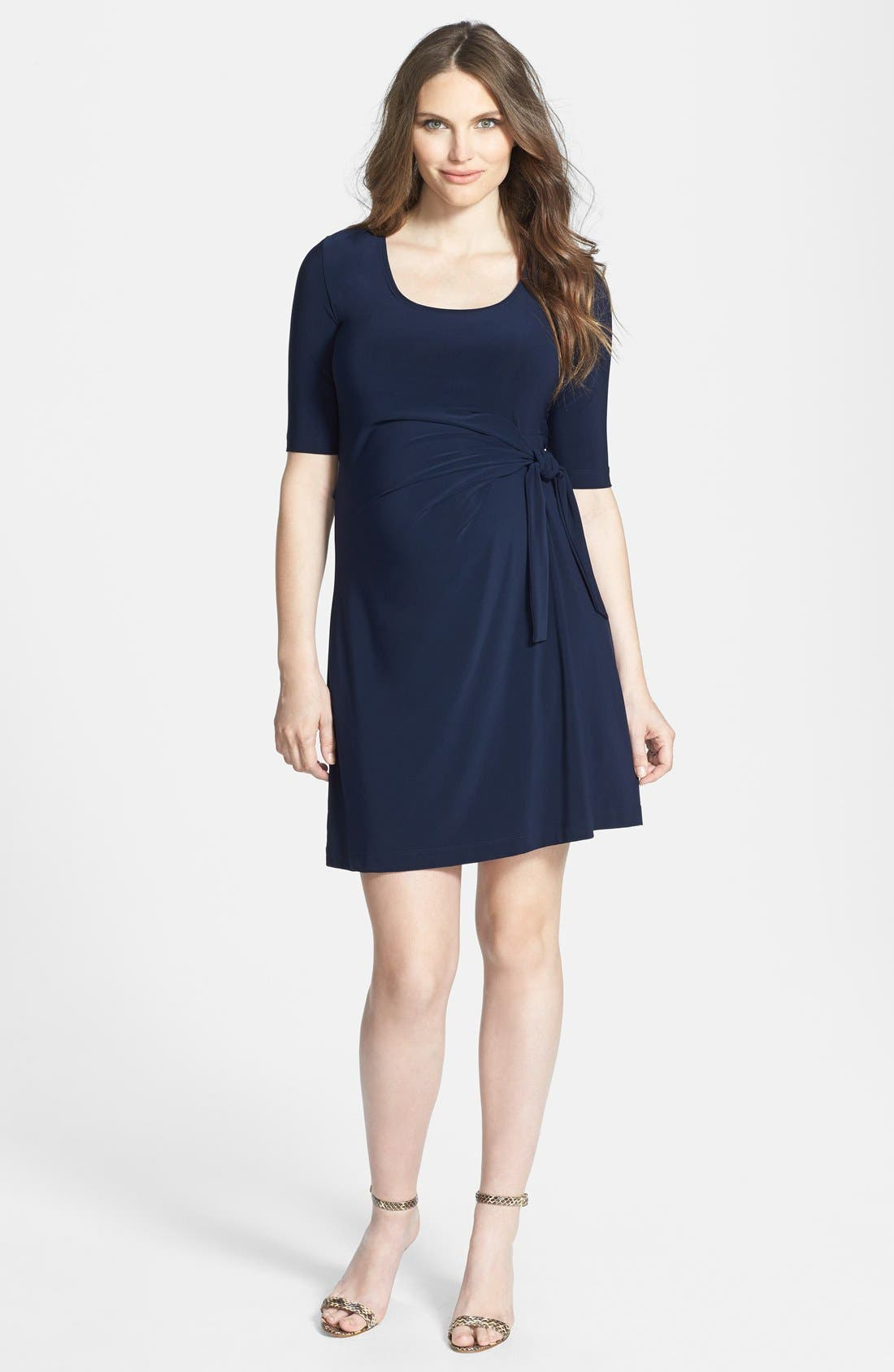 Main Image - Japanese Weekend Side Tie Maternity Dress