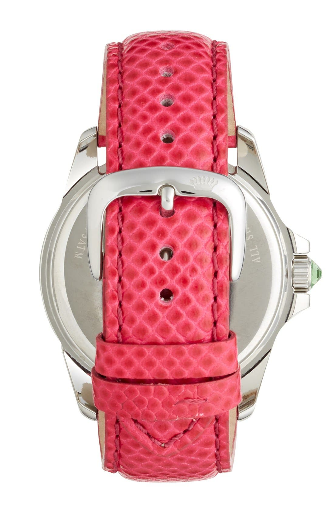 Alternate Image 3  - Juicy Couture 'Stella' Pavé Crystal Leather Strap Watch, 40mm