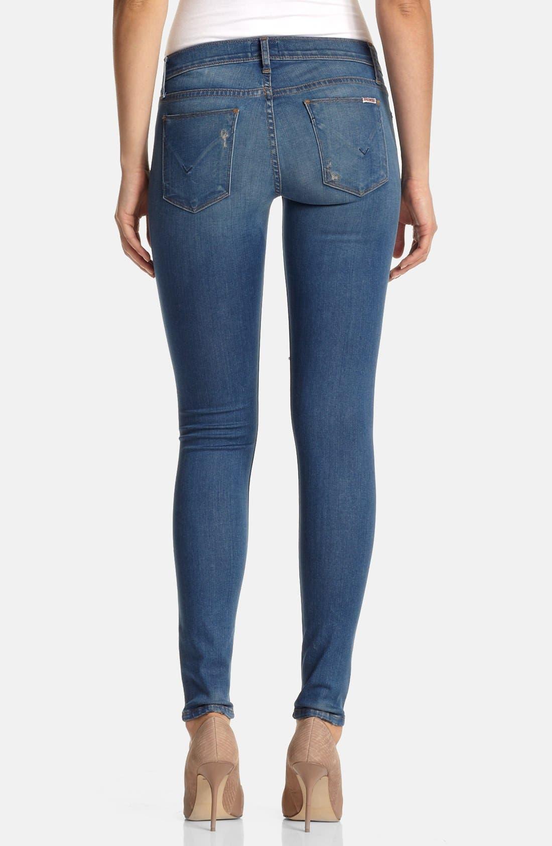Alternate Image 2  - Hudson Jeans 'Krista' Super Skinny Jeans (Foxey)
