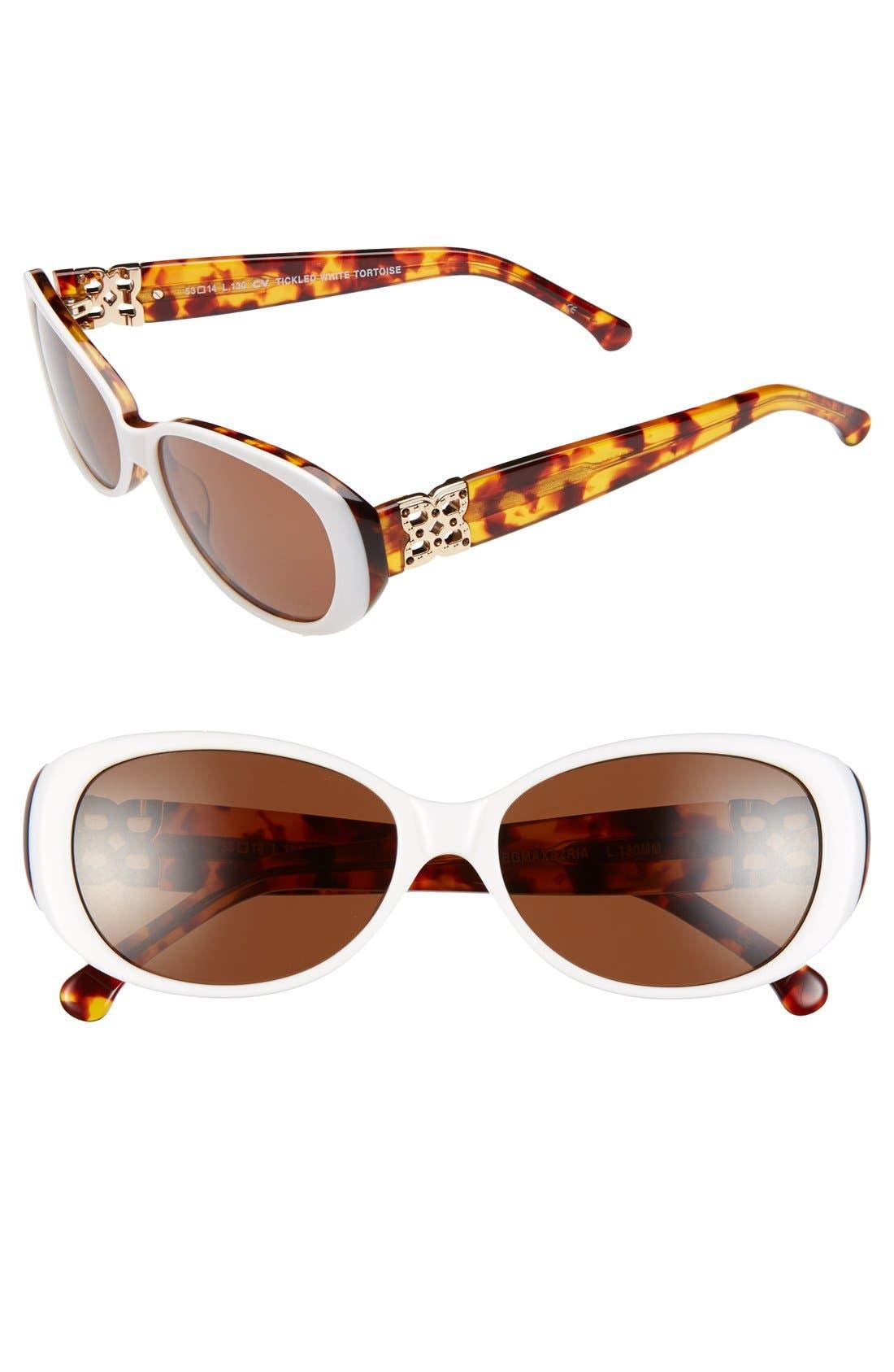Alternate Image 1 Selected - BCBGMAXAZRIA 'Tickled' 53mm Sunglasses