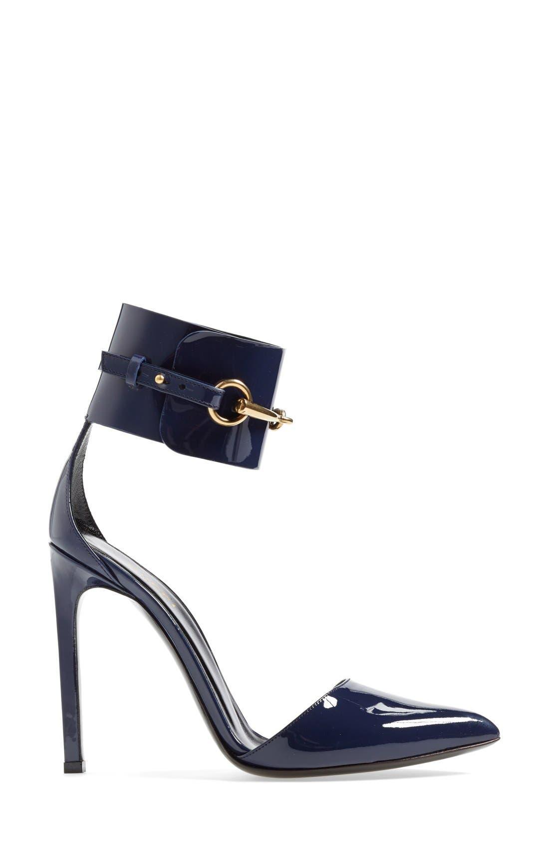 Alternate Image 4  - Gucci 'Ursula' Ankle Cuff Pointy Toe Pump