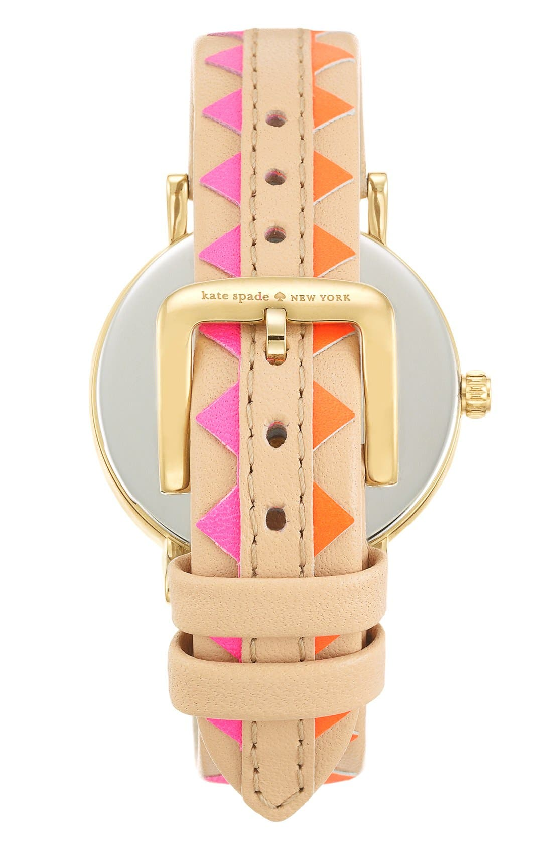 Alternate Image 2  - kate spade new york 'metro' geo print leather strap watch, 34mm