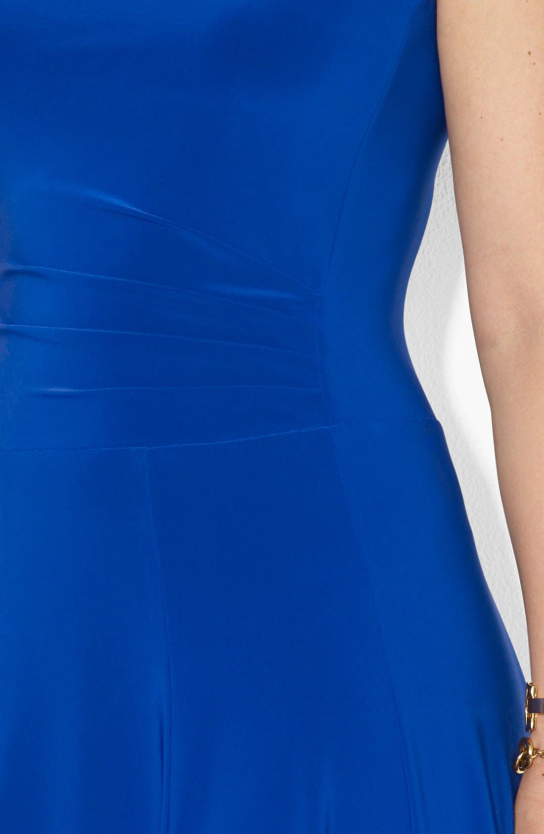 Alternate Image 3  - Lauren Ralph Lauren Boat Neck Stretch Jersey Dress (Plus Size)