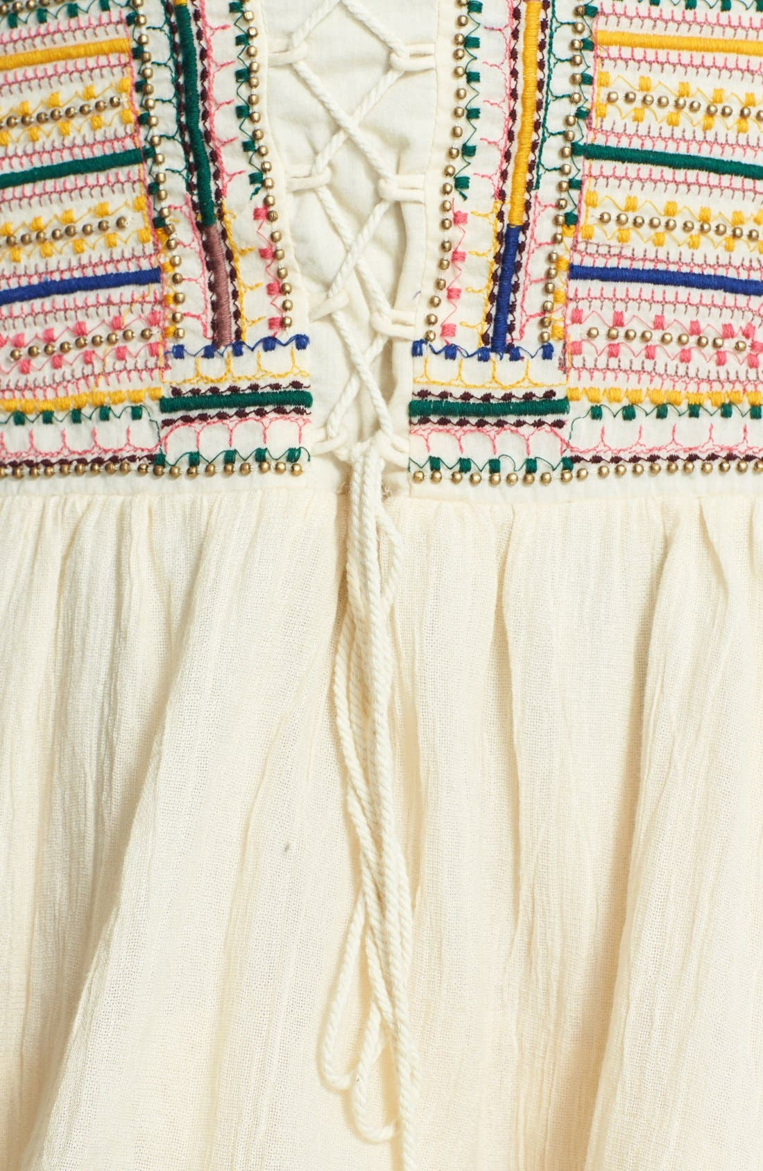 Alternate Image 3  - Free People 'Prairie Dreams' Cotton Blend High/Low Skirt
