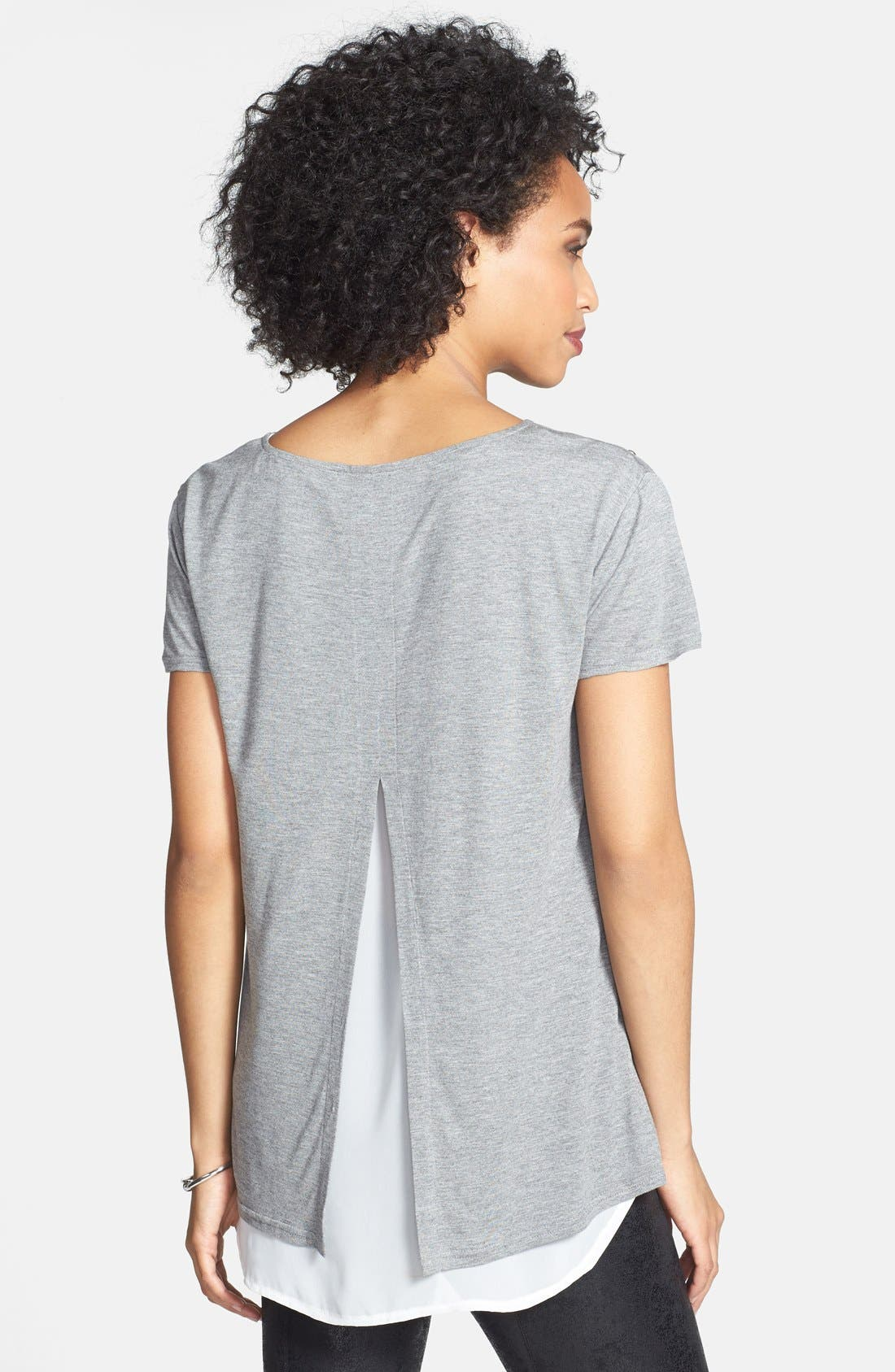 Alternate Image 2  - Two by Vince Camuto Embellished Jersey & Chiffon Tee