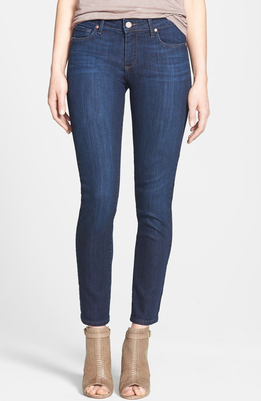 Main Image - Paige Denim 'Skyline' Ankle Peg Skinny Jeans (Dixie) (Nordstrom Exclusive)