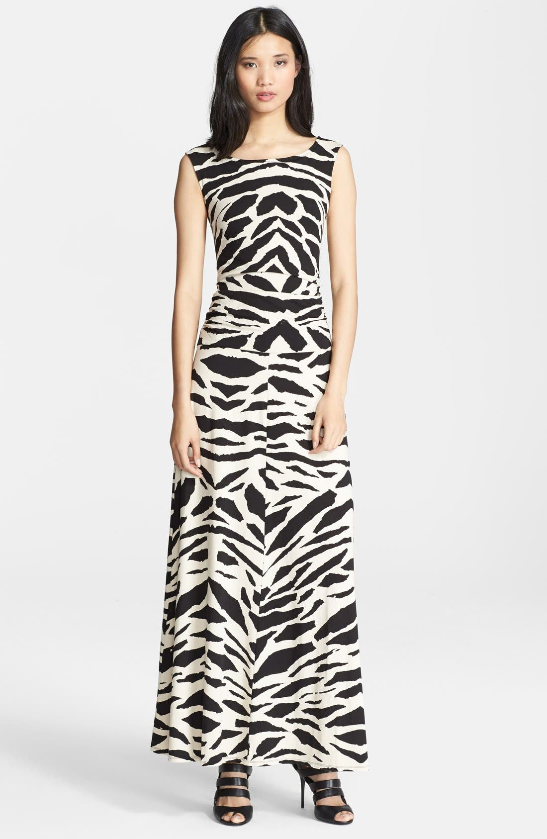 Alternate Image 1 Selected - Tracy Reese Graphic Print Cross Back Maxi Dress