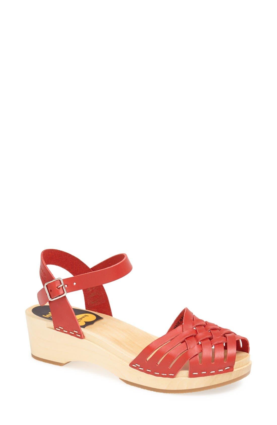 Alternate Image 1 Selected - Swedish Hasbeens Braided Sandal