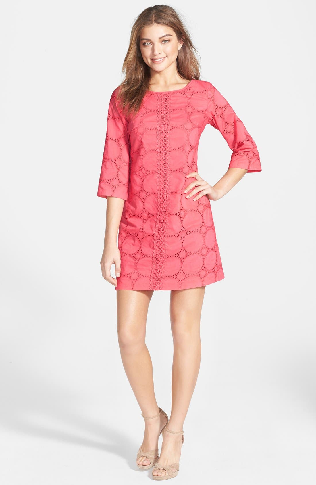 Alternate Image 3  - Eliza J Cotton Lace Tunic Dress (Petite)
