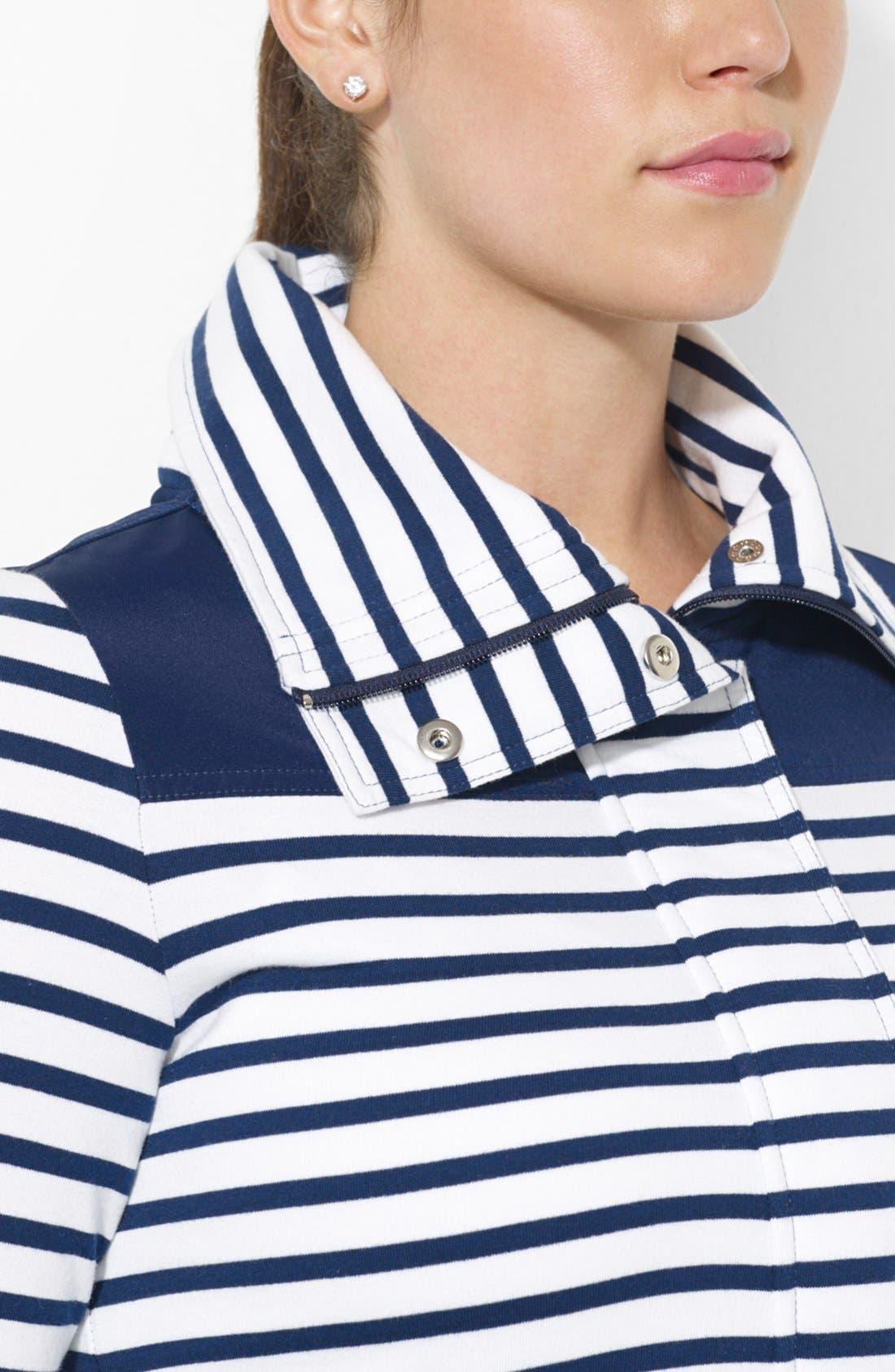 Alternate Image 3  - Lauren Ralph Lauren Stripe French Terry Jacket (Plus Size)