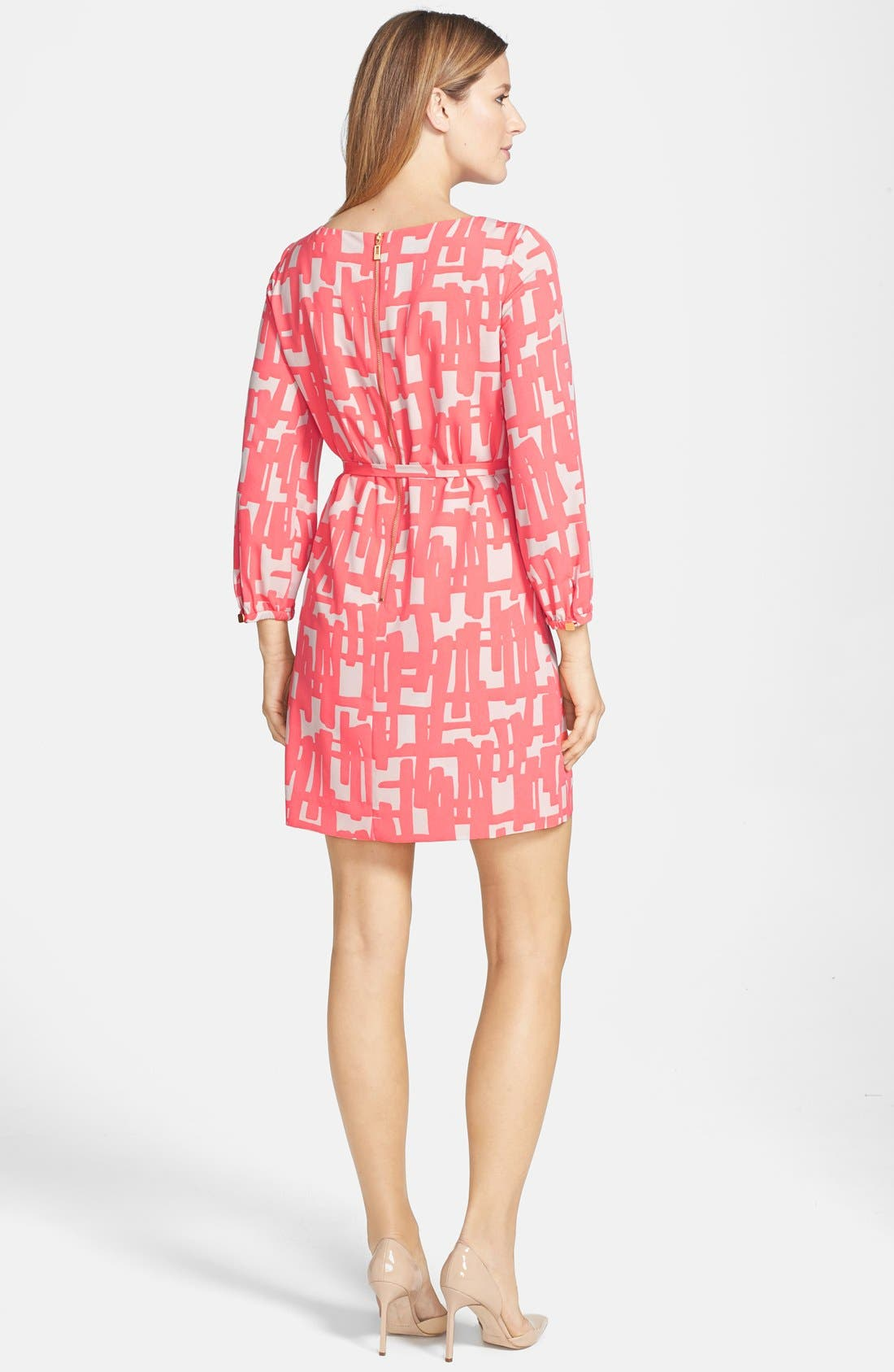 Alternate Image 2  - Tahari Print Shift Dress (Petite)