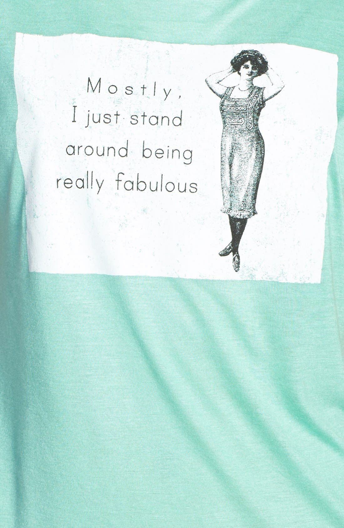 Alternate Image 3  - Madison & Berkeley 'Fabulous Card' Graphic Tee