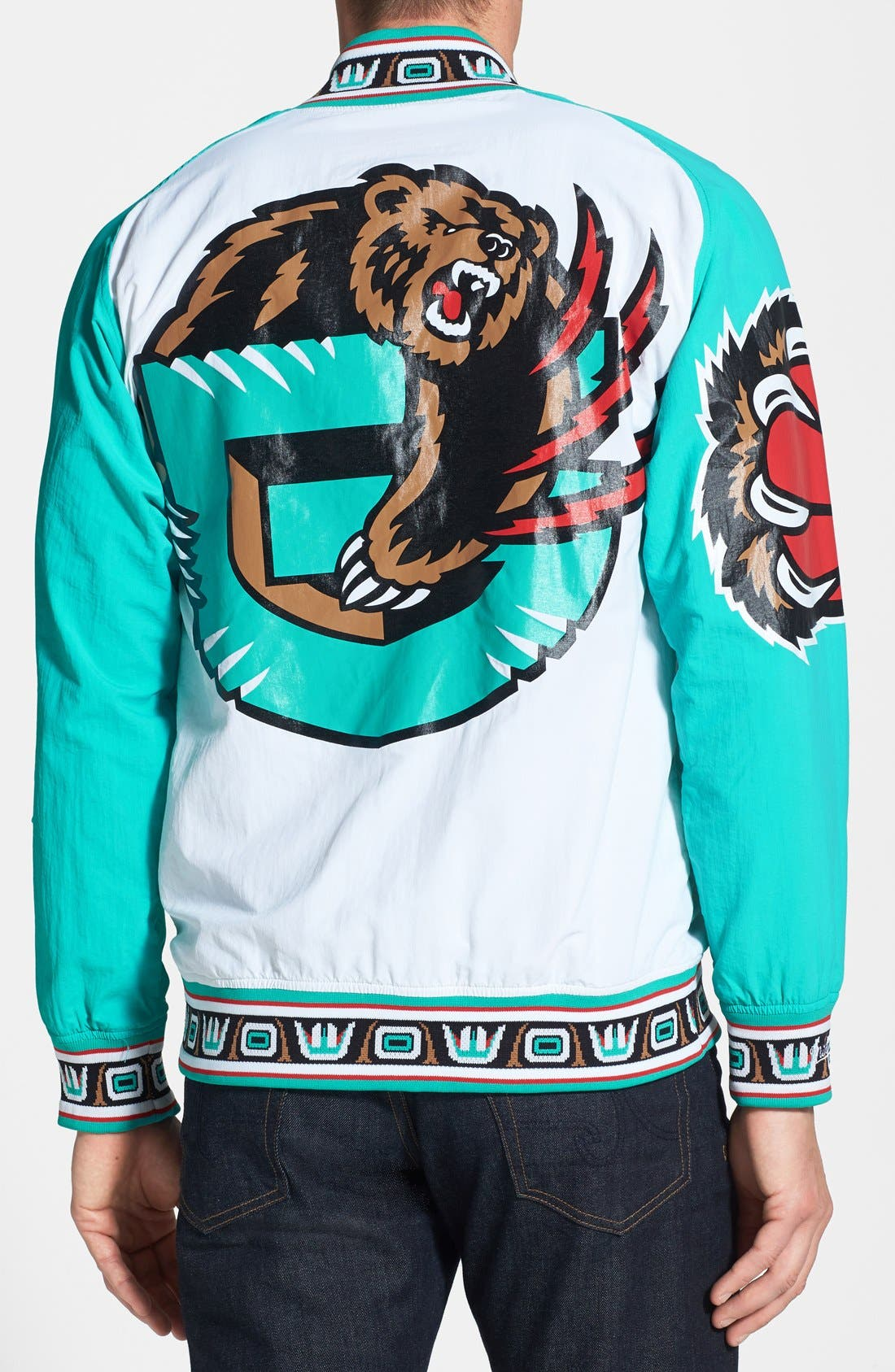Alternate Image 2  - Mitchell & Ness 'Vancouver Grizzlies' Tailored Fit Warm-Up Jacket