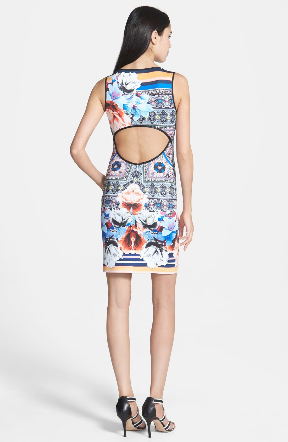 Alternate Image 2  - Clover Canyon 'Byzantine Scarf' Print Neoprene Sheath Dress