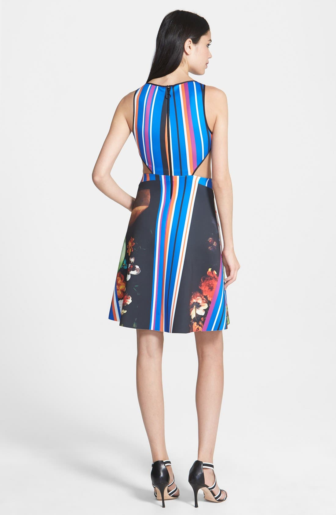 Alternate Image 2  - Clover Canyon 'Grecian Bouquet' Print Neoprene A-Line Dress