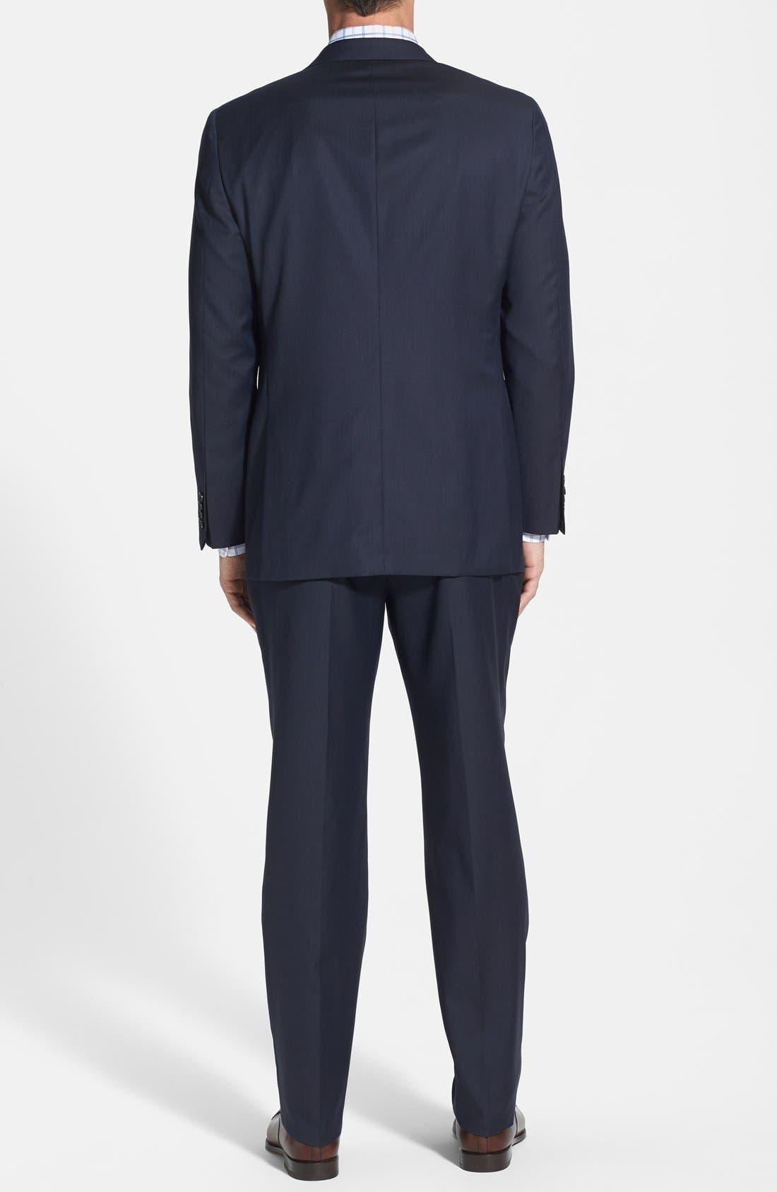 Alternate Image 2  - Hickey Freeman Classic Fit Navy Stripe Suit