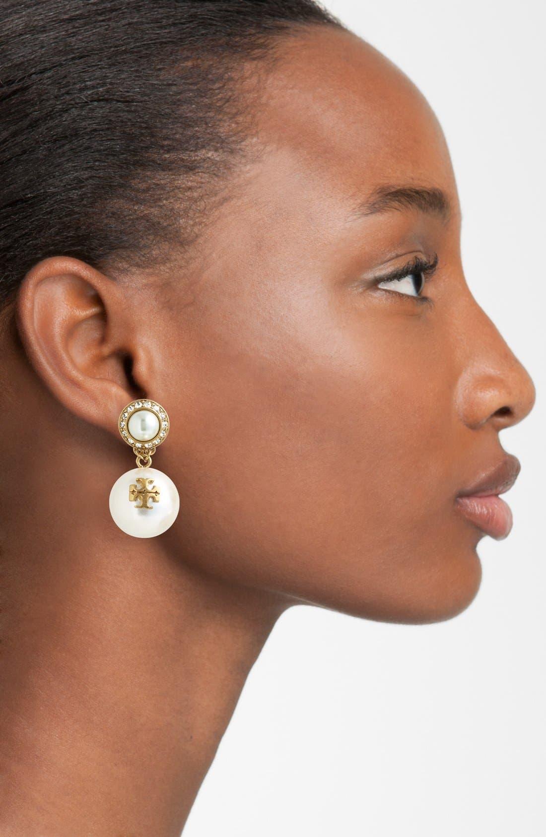 Alternate Image 2  - Tory Burch 'Selma' Faux Pearl Drop Earrings