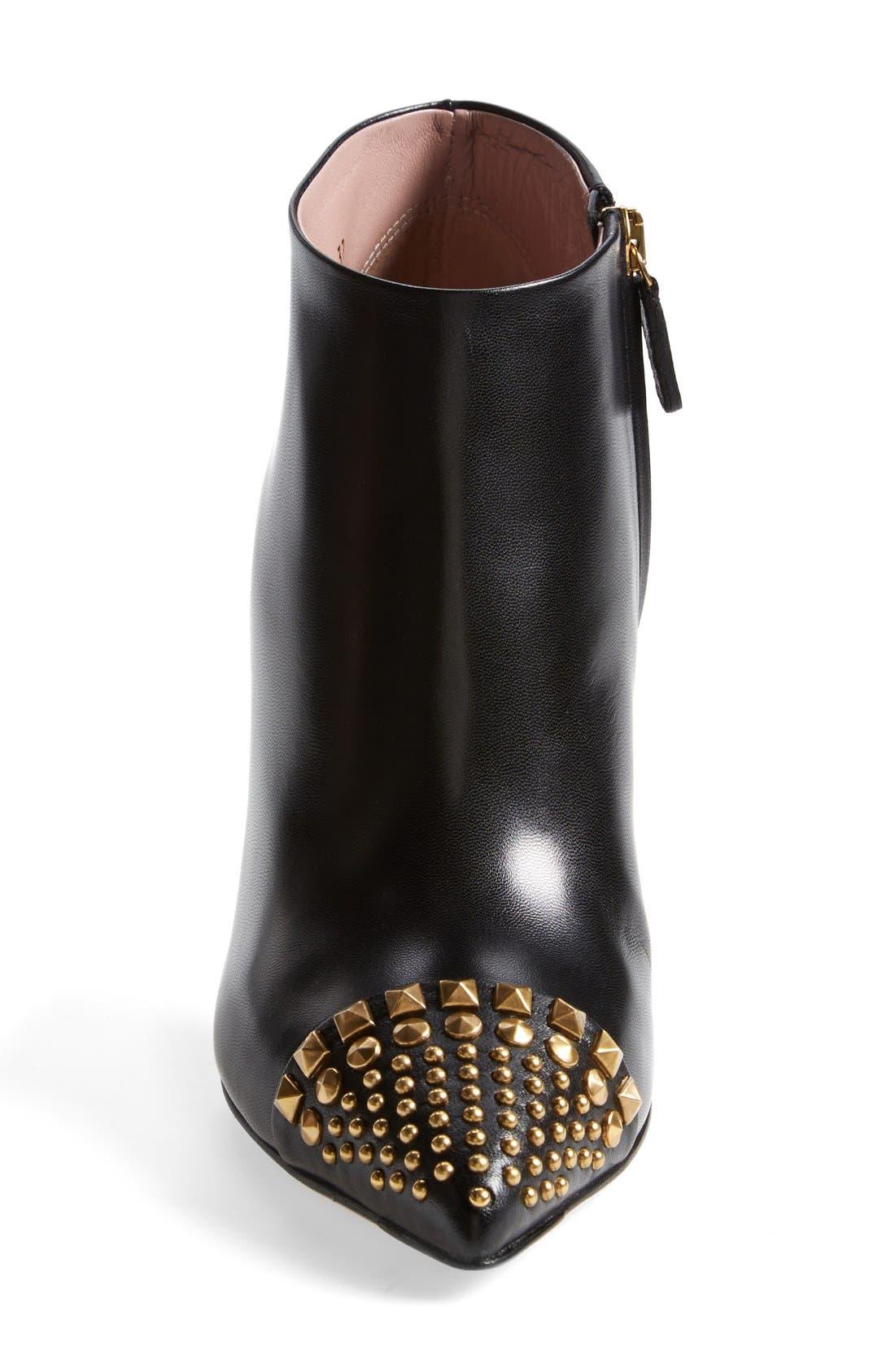 Alternate Image 3  - Gucci 'Coline' Studded Cap Toe Bootie (Women)