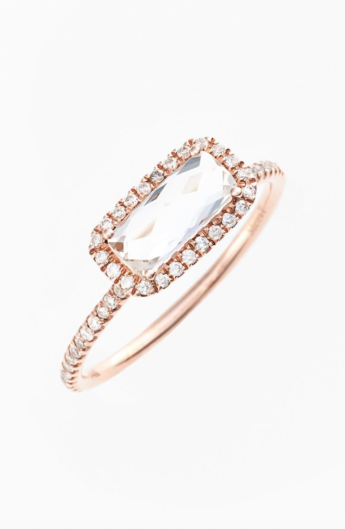 Main Image - MeiraT White Topaz & Diamond Pavé Ring