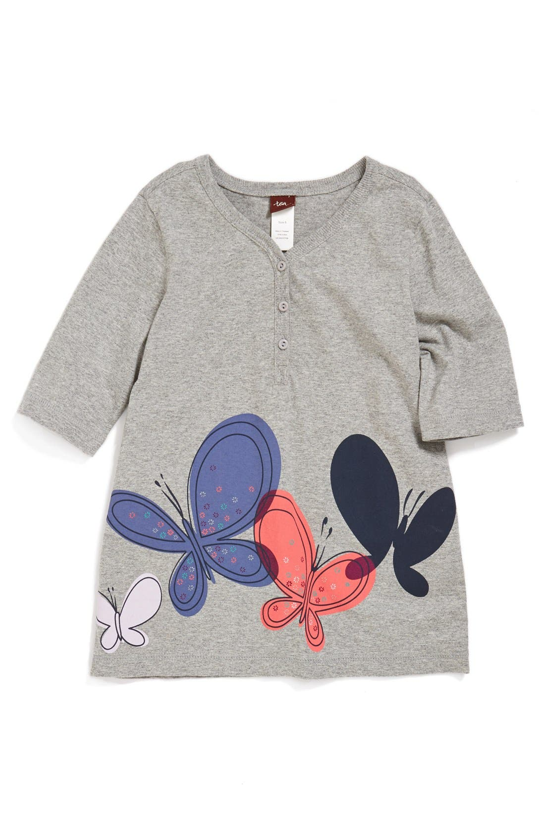 Alternate Image 1 Selected - Tea Collection 'Schmetterling' Henley Tee (Toddler Girls, Little Girls & Big Girls)