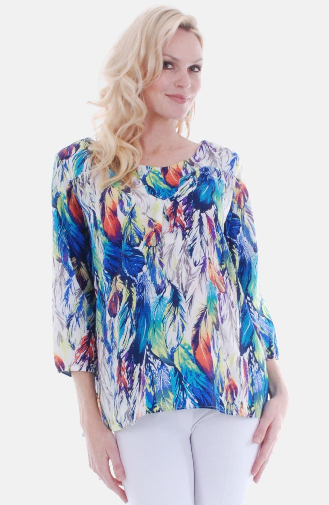 Main Image - Everly Grey 'Kai' Cotton Maternity Tunic