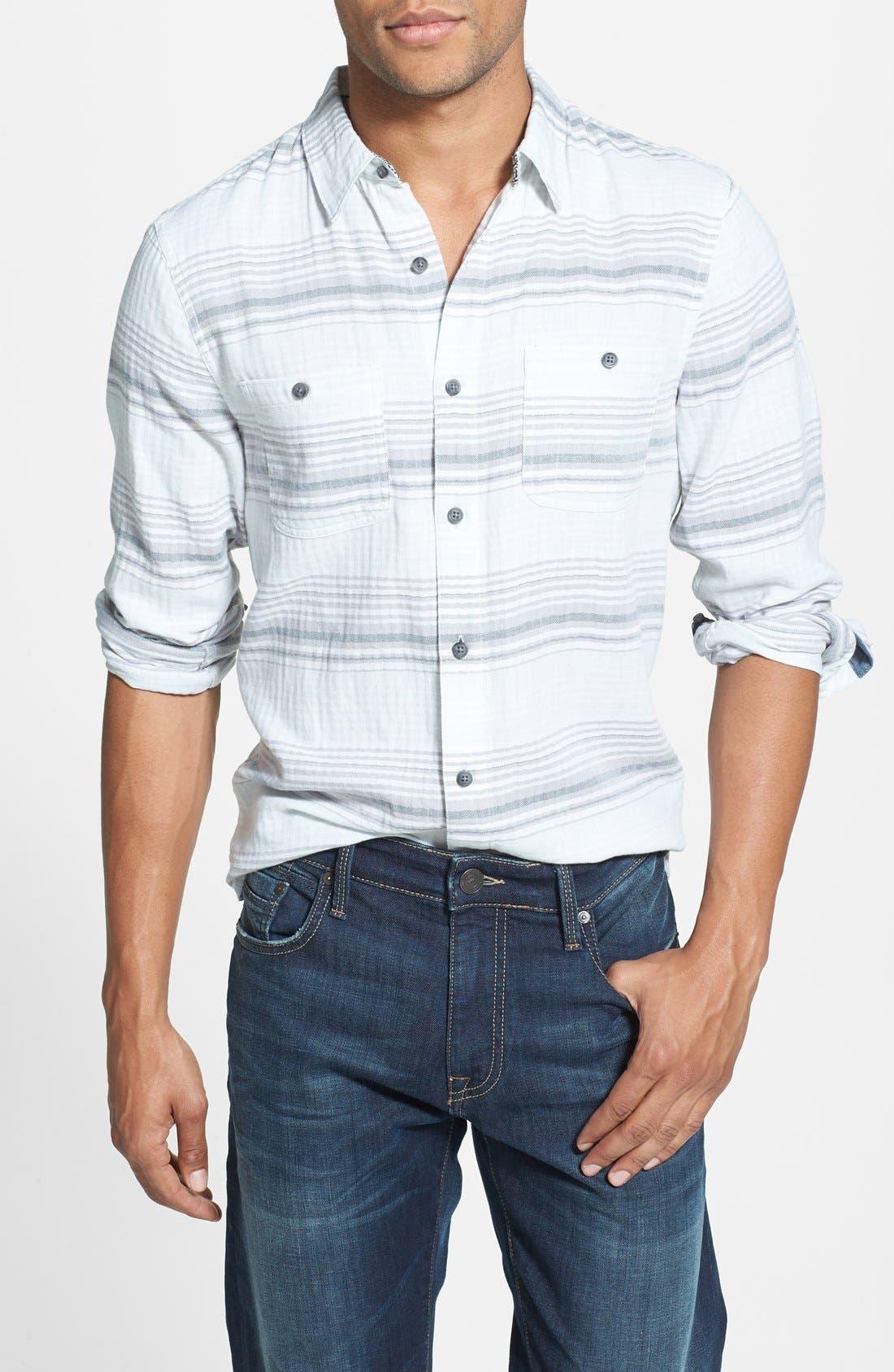 Main Image - 1901 Herringbone Stripe Woven Shirt