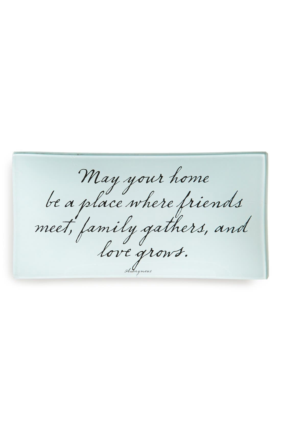 Main Image - Ben's Garden 'May Your Home Be a Place' Decorative Glass Tray
