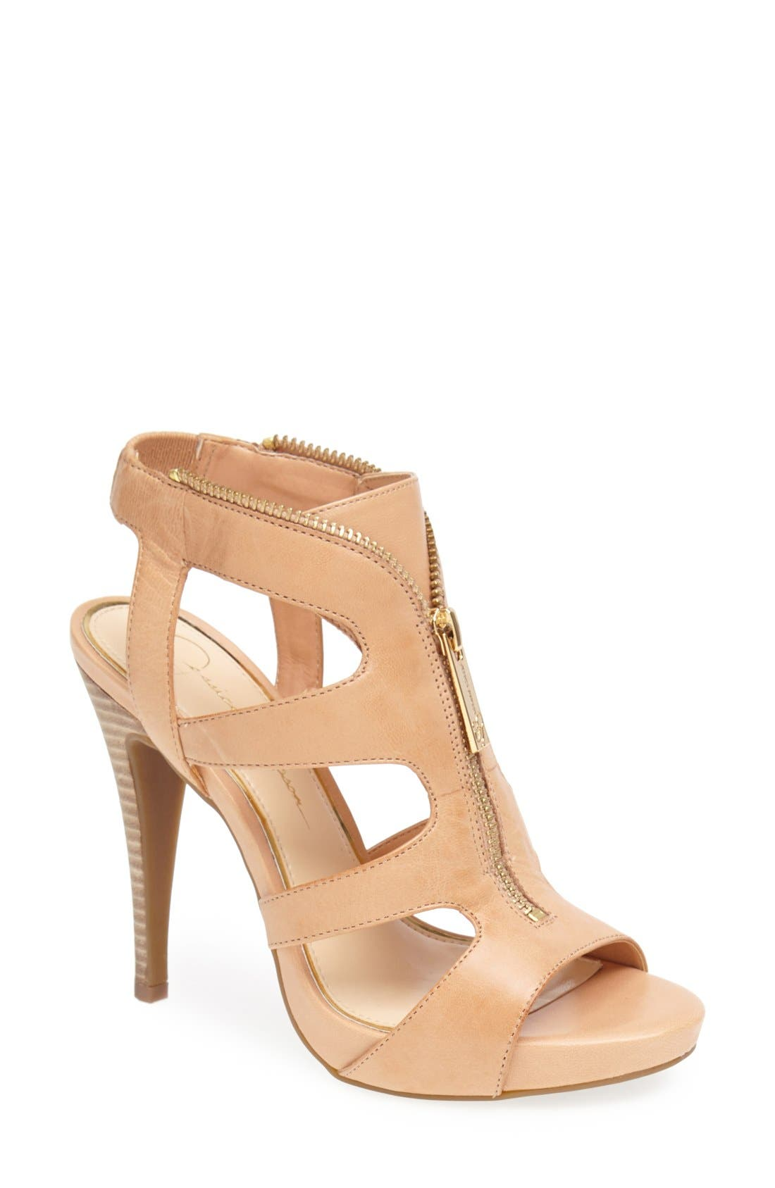 Alternate Image 1 Selected - Jessica Simpson 'Carmyne' Leather Sandal (Women)