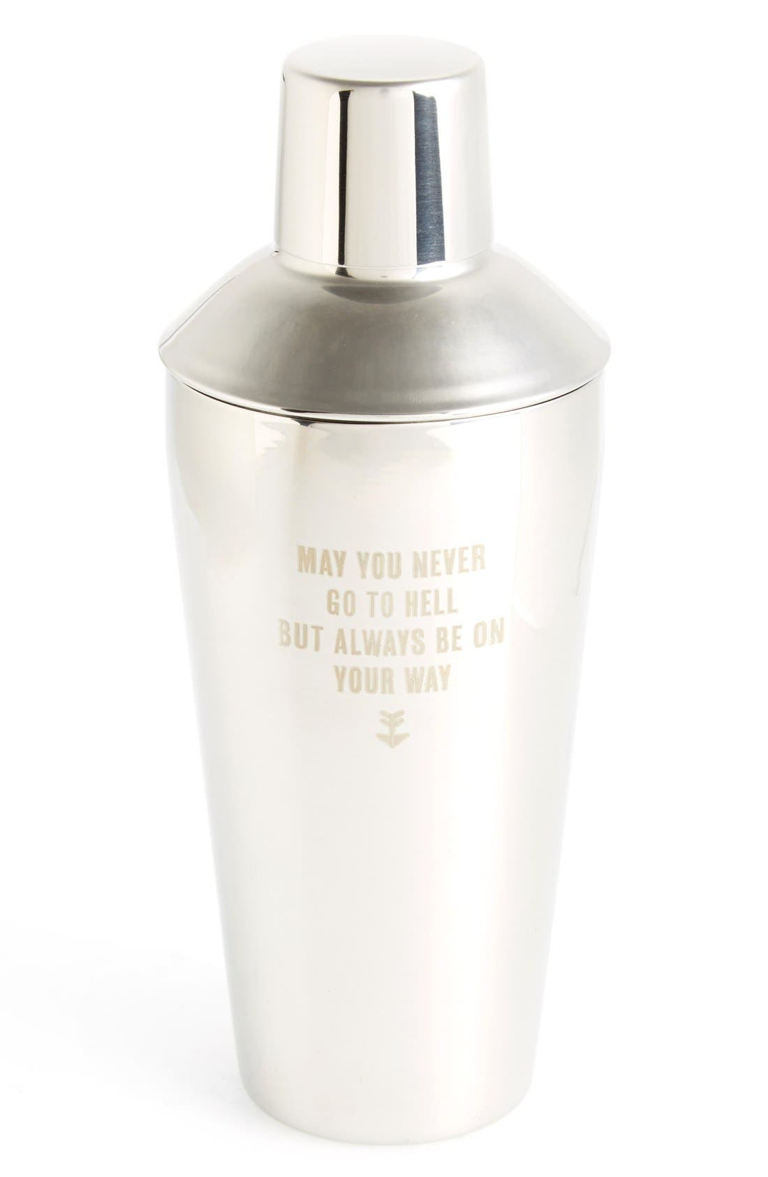 Alternate Image 1 Selected - Izola 'May You Never' Stainless Steel Cocktail Shaker