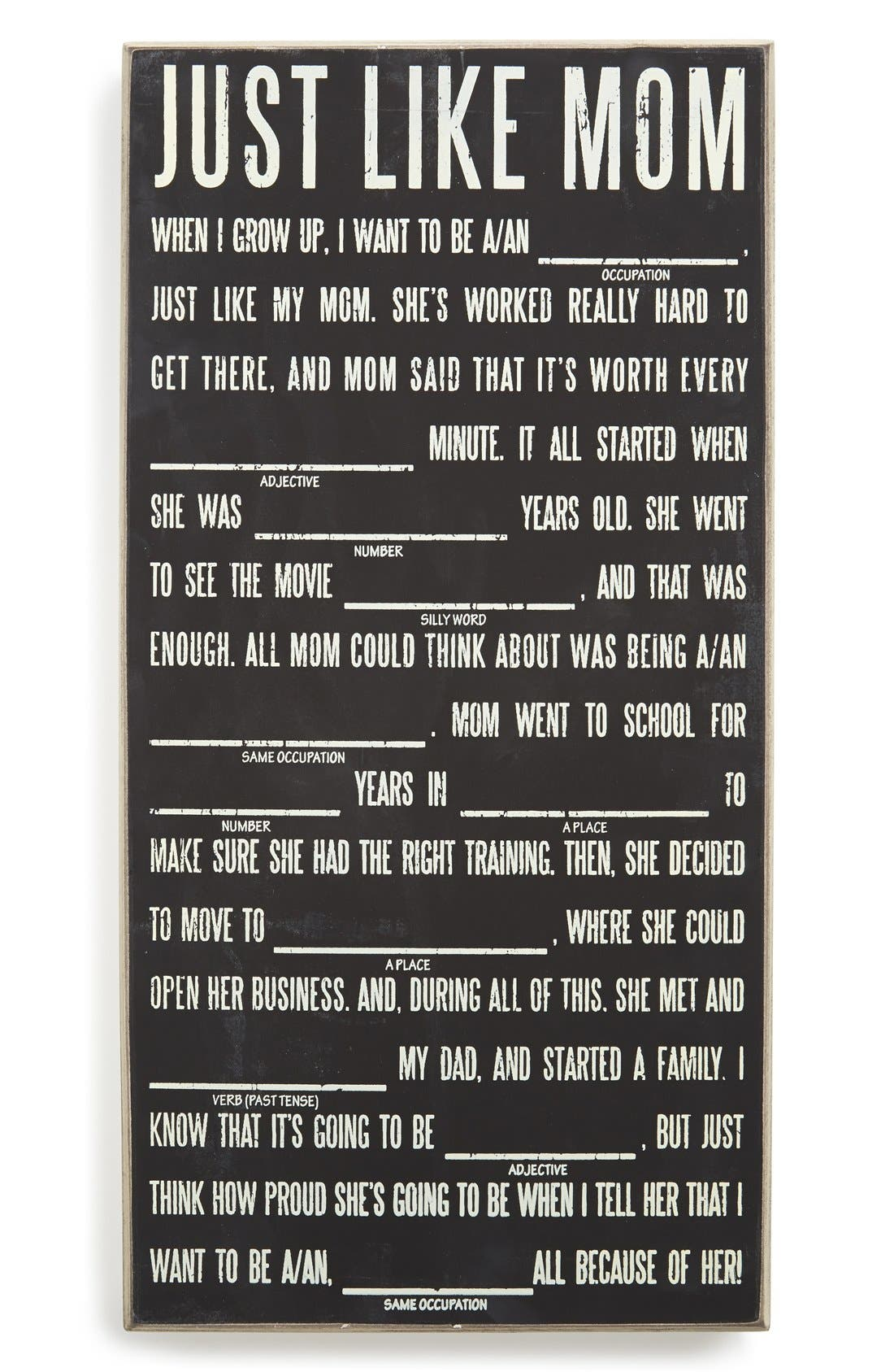 Alternate Image 1 Selected - Primitives by Kathy 'Mad Libs - Just Like Mom' Chalk Sign