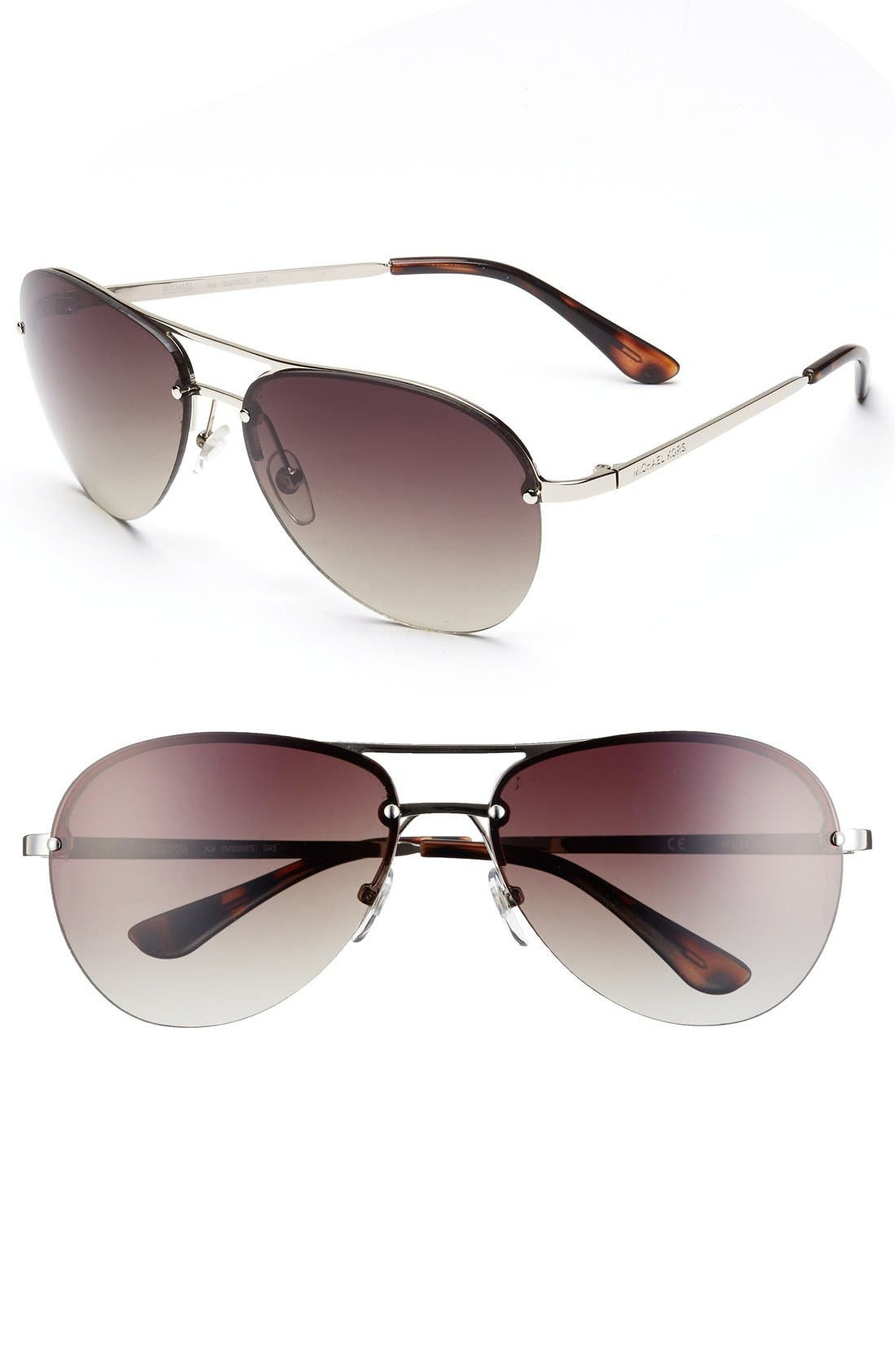 Alternate Image 1 Selected - MICHAEL Michael Kors 'Kai' 62mm Aviator Sunglasses
