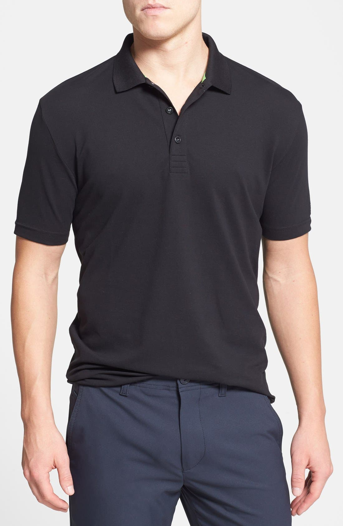 Main Image - BOSS Green 'Pasey' Trim Fit Stretch Golf Polo