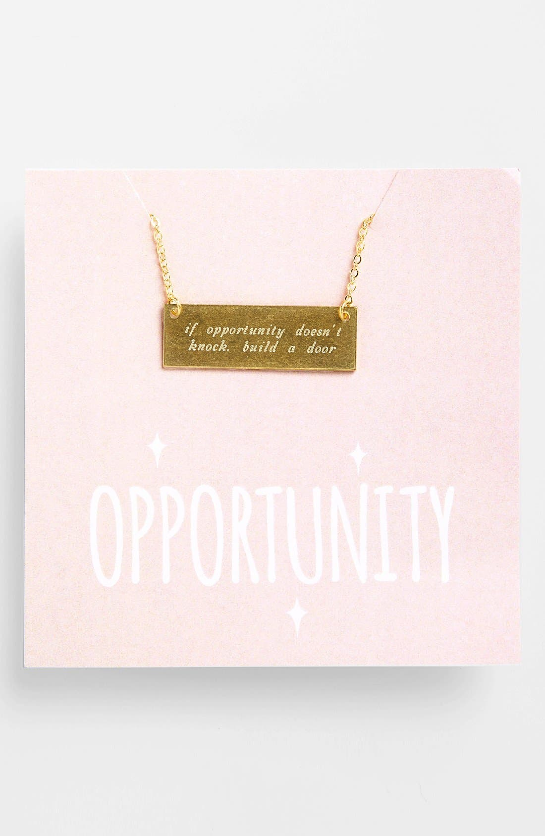 Alternate Image 1 Selected - Alisa Michelle Designs 'If Opportunity Doesn't Knock' Necklace