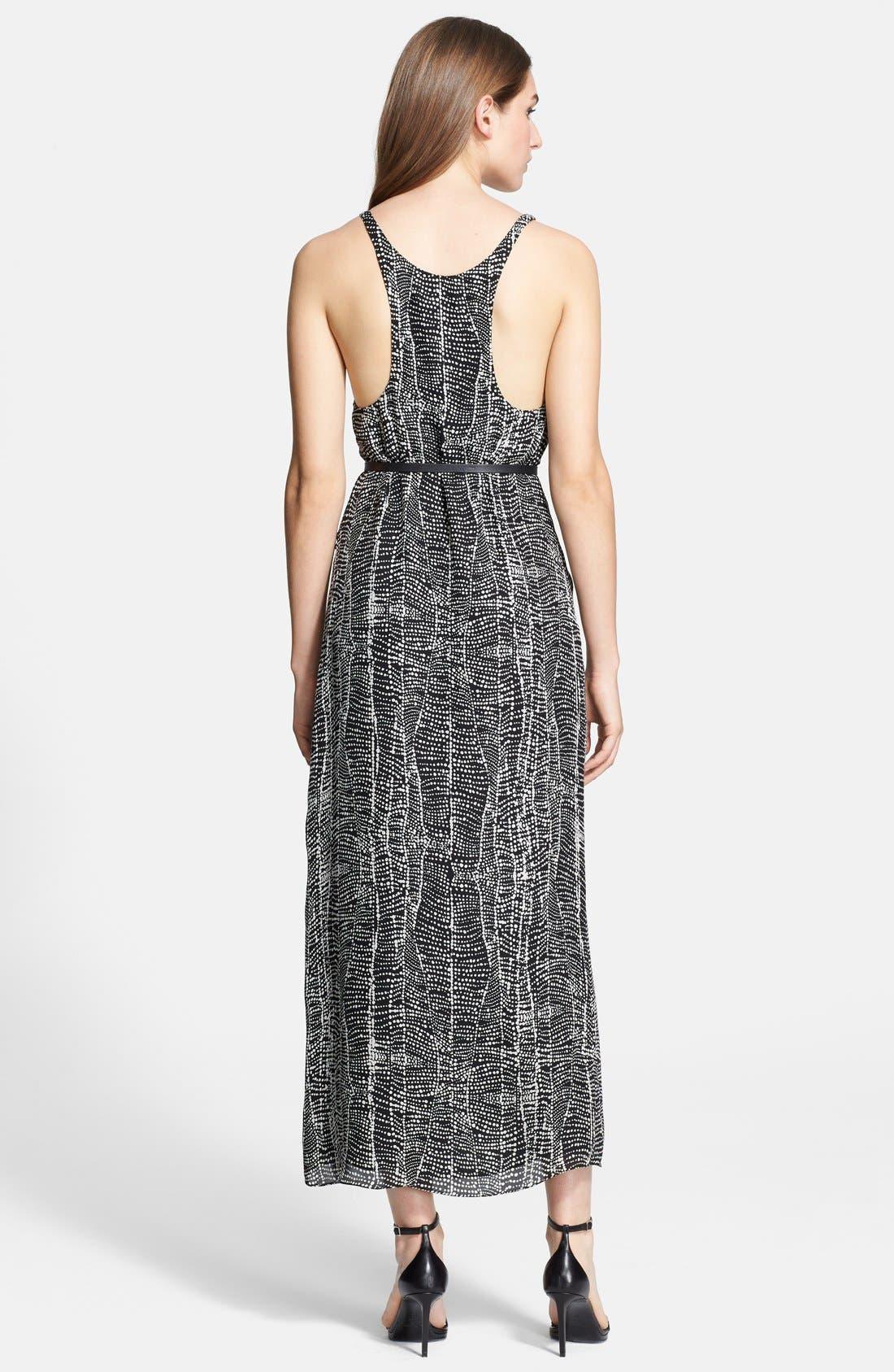 Alternate Image 2  - Halston Heritage Belted Georgette Maxi Dress