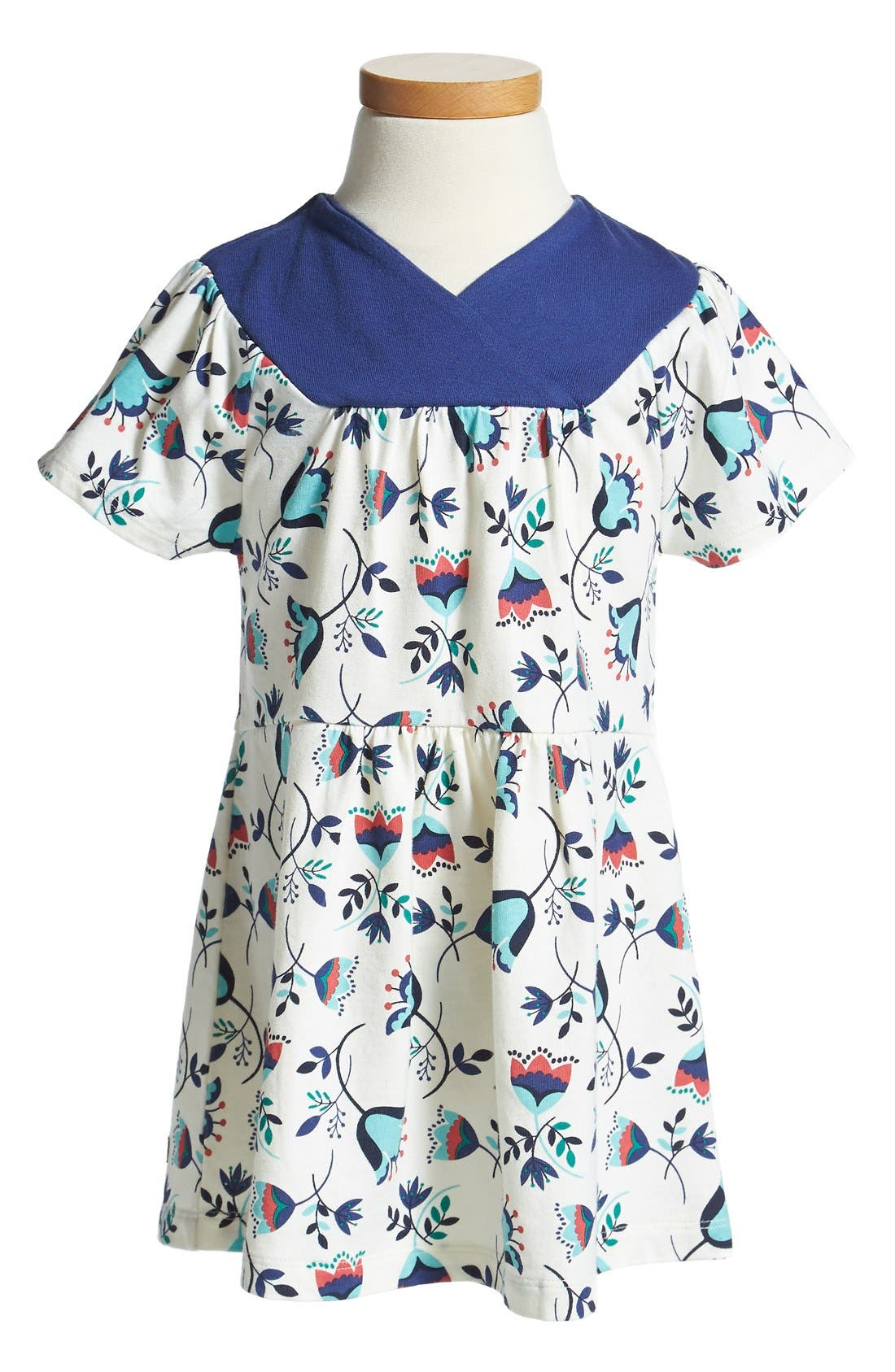 Alternate Image 1 Selected - Tea Collection 'Tulpenregen' Faux-Wrap Dress (Baby Girls)