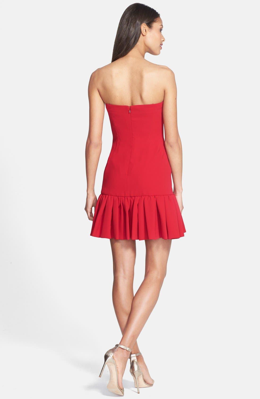 Alternate Image 2  - Jill Jill Stuart Strapless Fitted Crepe Dress