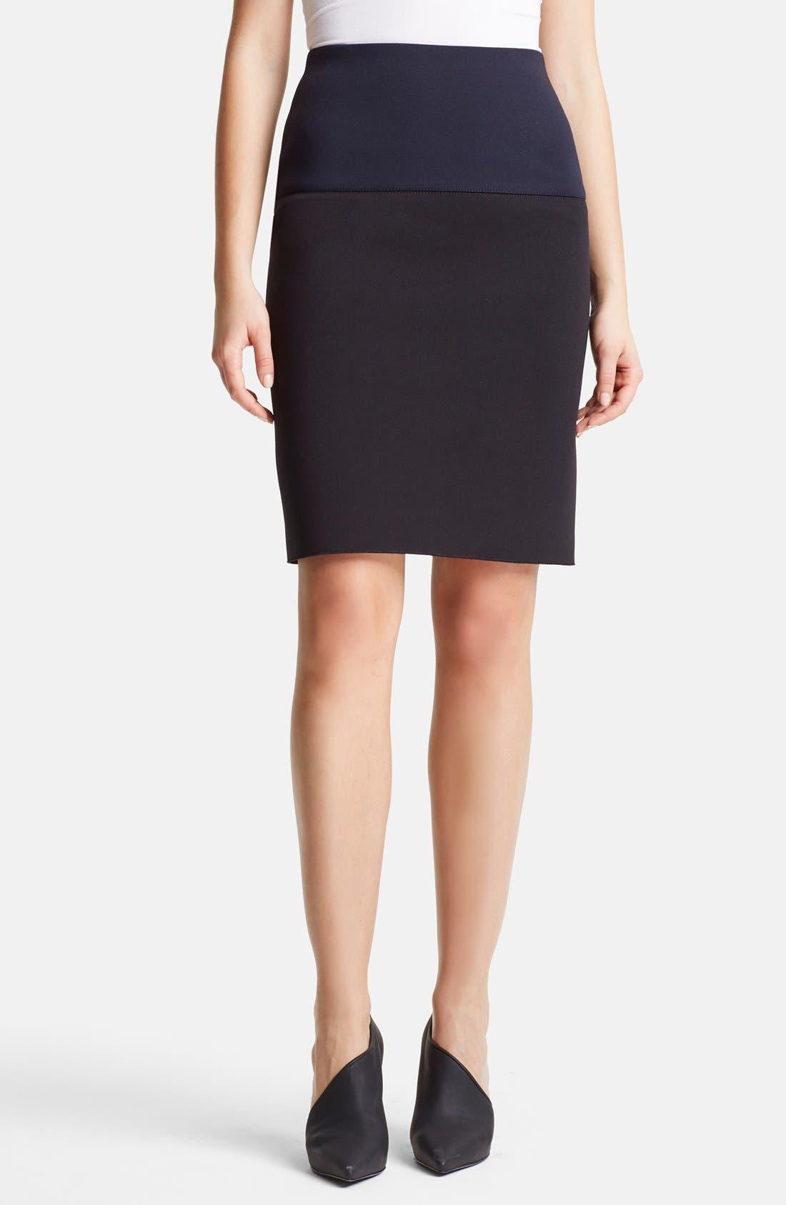 Alternate Image 1 Selected - Lanvin Two-Tone Pencil Skirt