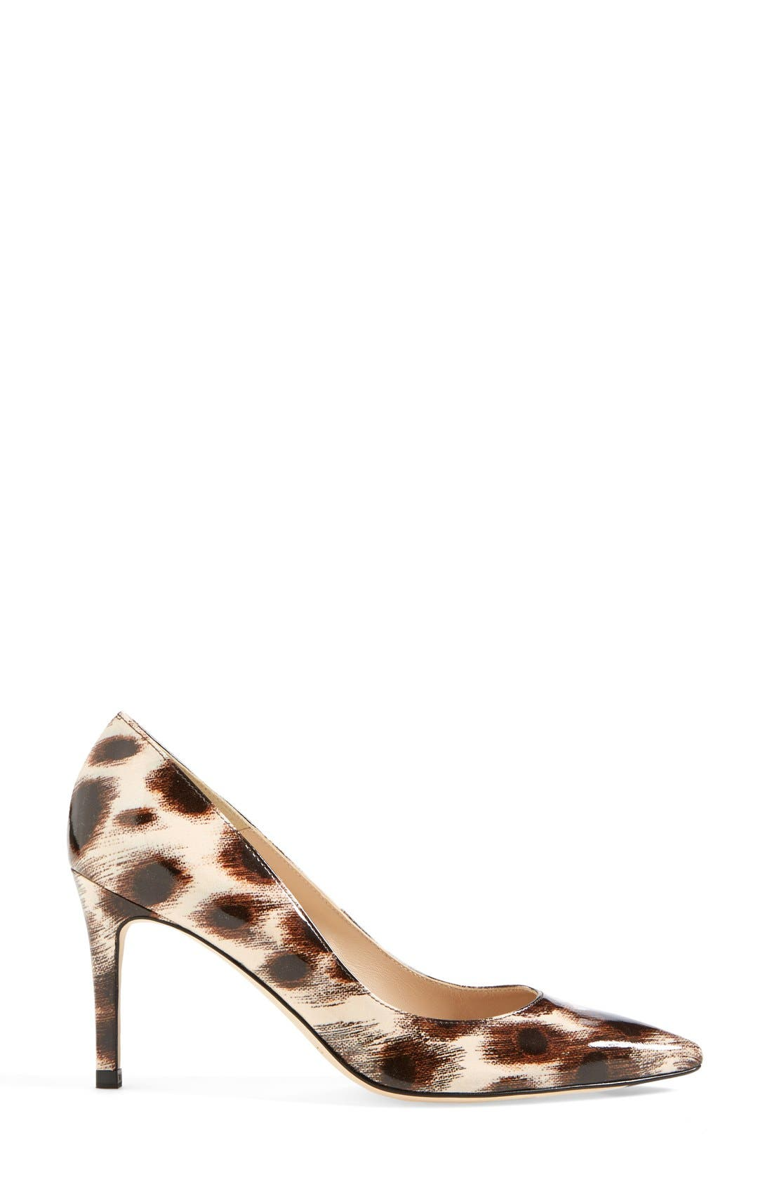 Alternate Image 4  - L.K. Bennett 'Floret' Leopard Print Patent Pointy Toe Pump (Women)