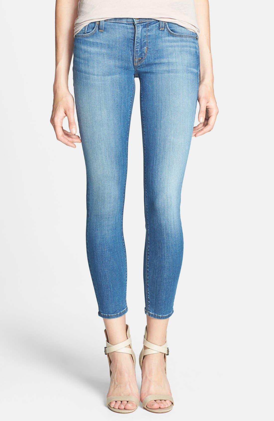 Main Image - Hudson Jeans 'Krista' Crop Super Skinny Jeans (Worship Me)