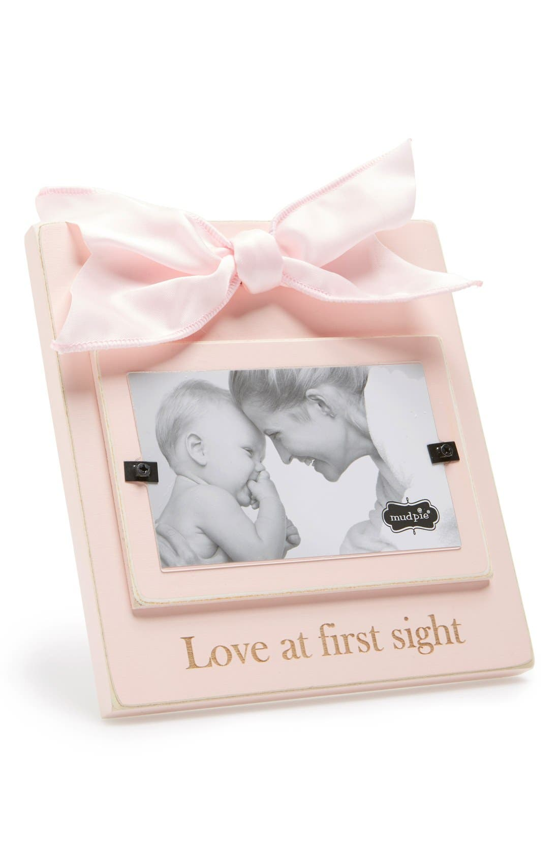Main Image - Mud Pie 'Love At First Sight' Wooden Picture Frame (3x5)