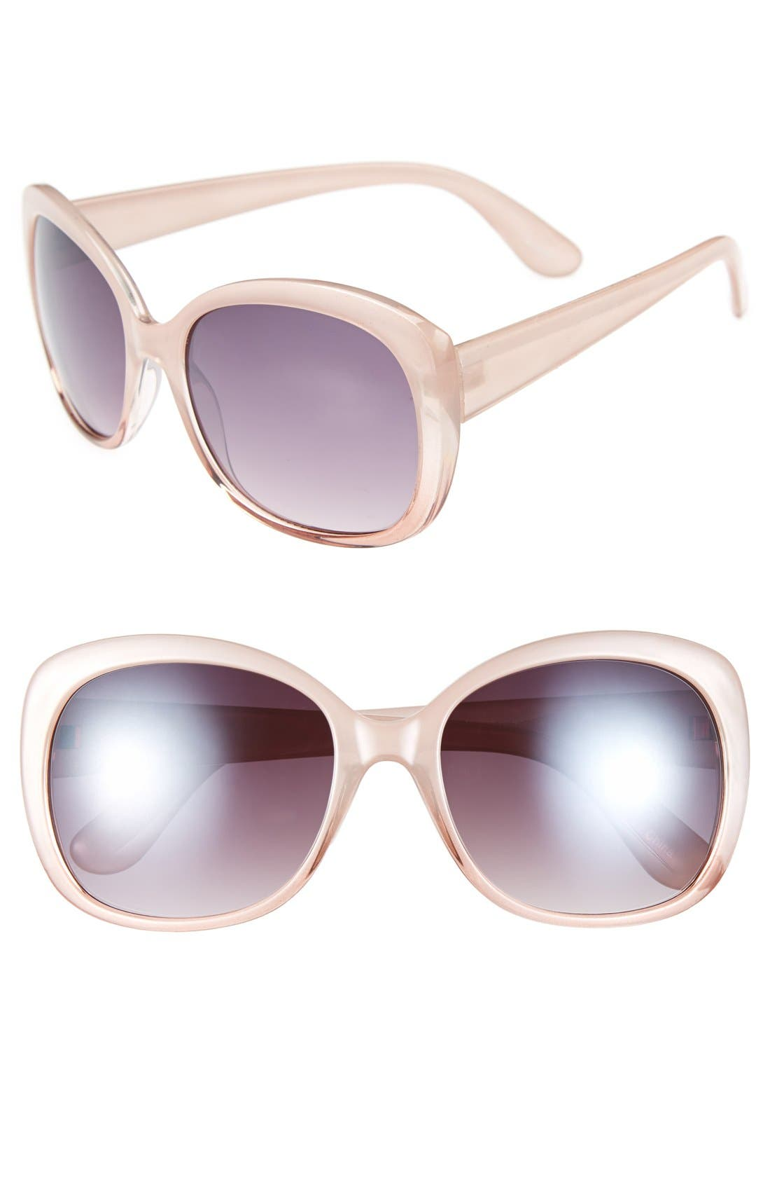Alternate Image 1 Selected - Icon Eyewear 'Tokyo' 56mm Oversized Sunglasses (2 for $20)