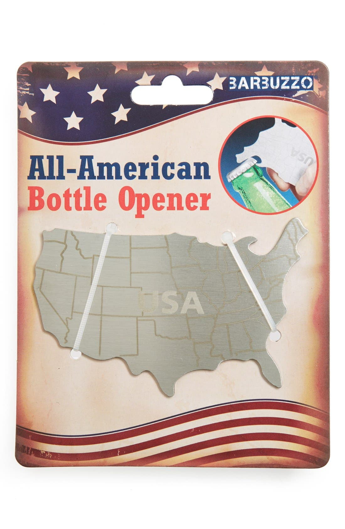 Alternate Image 1 Selected - Barbuzzo 'All-American' Engraved Bottle Opener