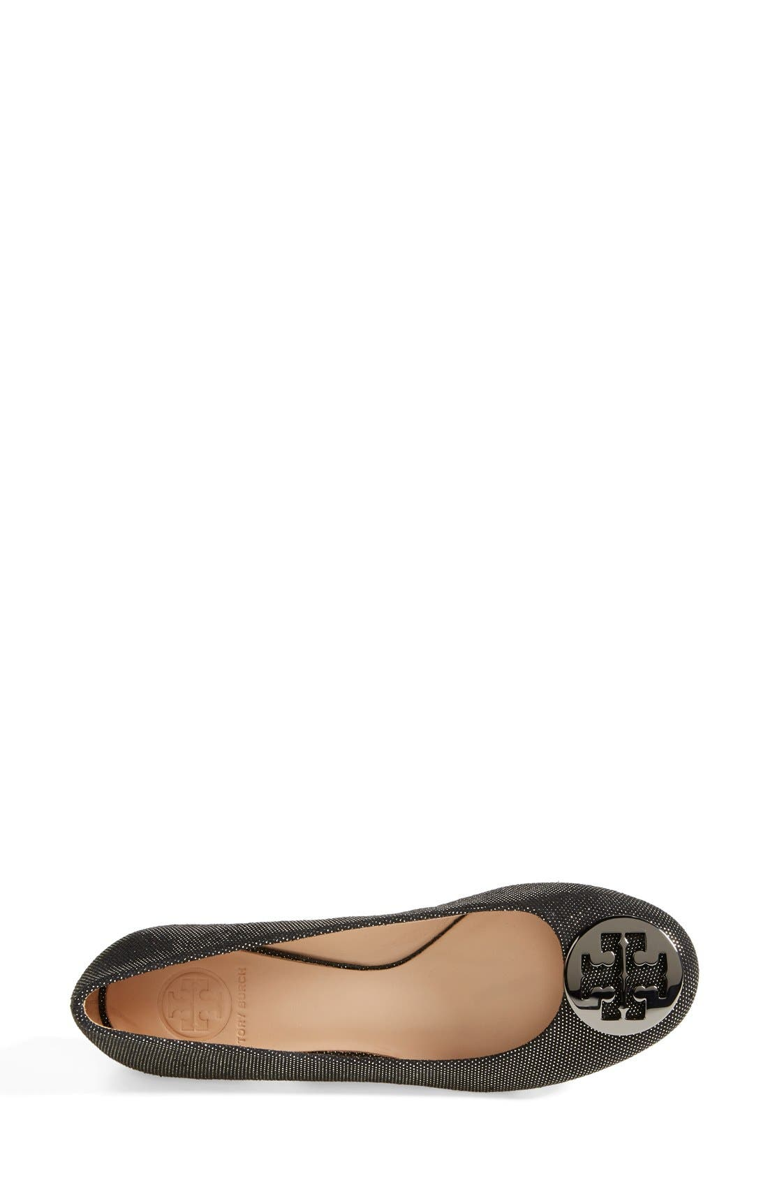 Alternate Image 3  - Tory Burch 'Reva' Metallic Dot Suede Ballet Flat (Women)