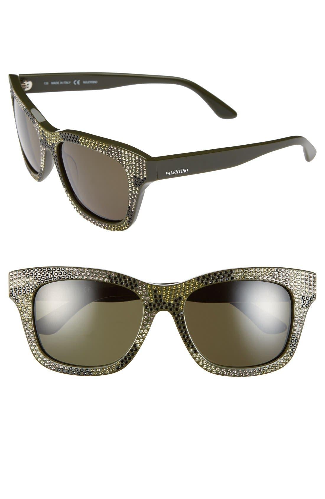 Main Image - Valentino 'Crystal Camo' 53mm Sunglasses