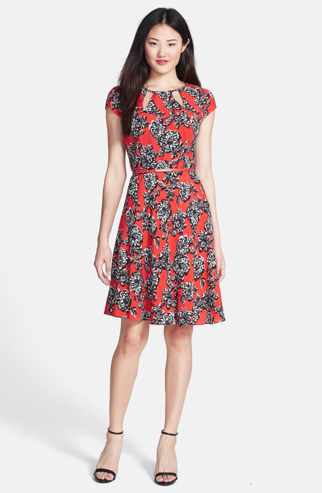 Main Image - Wallis Floral Print Fit & Flare Dress