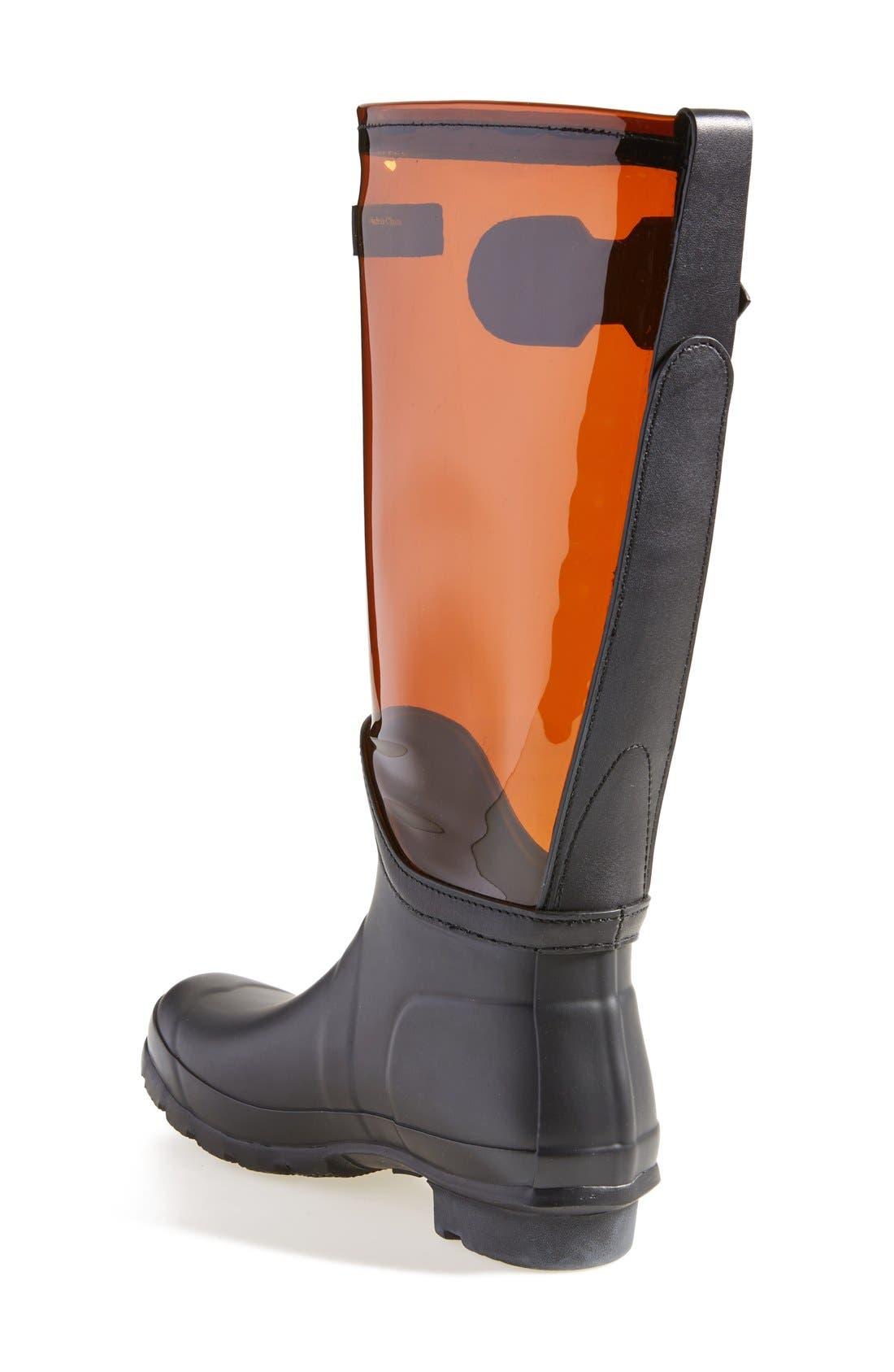 Alternate Image 2  - Hunter 'Original' Clear Waterproof Rain Boot (Women)